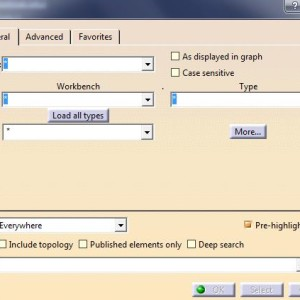 How to use efficient select tool in CATIA