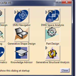 Create rapid links to most used CATIA modules