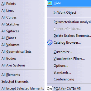 Simplify your work using right commands in CATIA