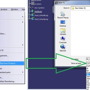 Save/Export assembly in igs, step, stl format in CATIA V5