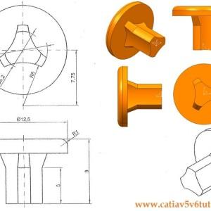 CATIA V5 Video tutorial #3 – Sketch, Shaft, Pocket