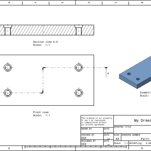 Drafting for beginners in CATIA V5 – Title Block, Border, Scale and more