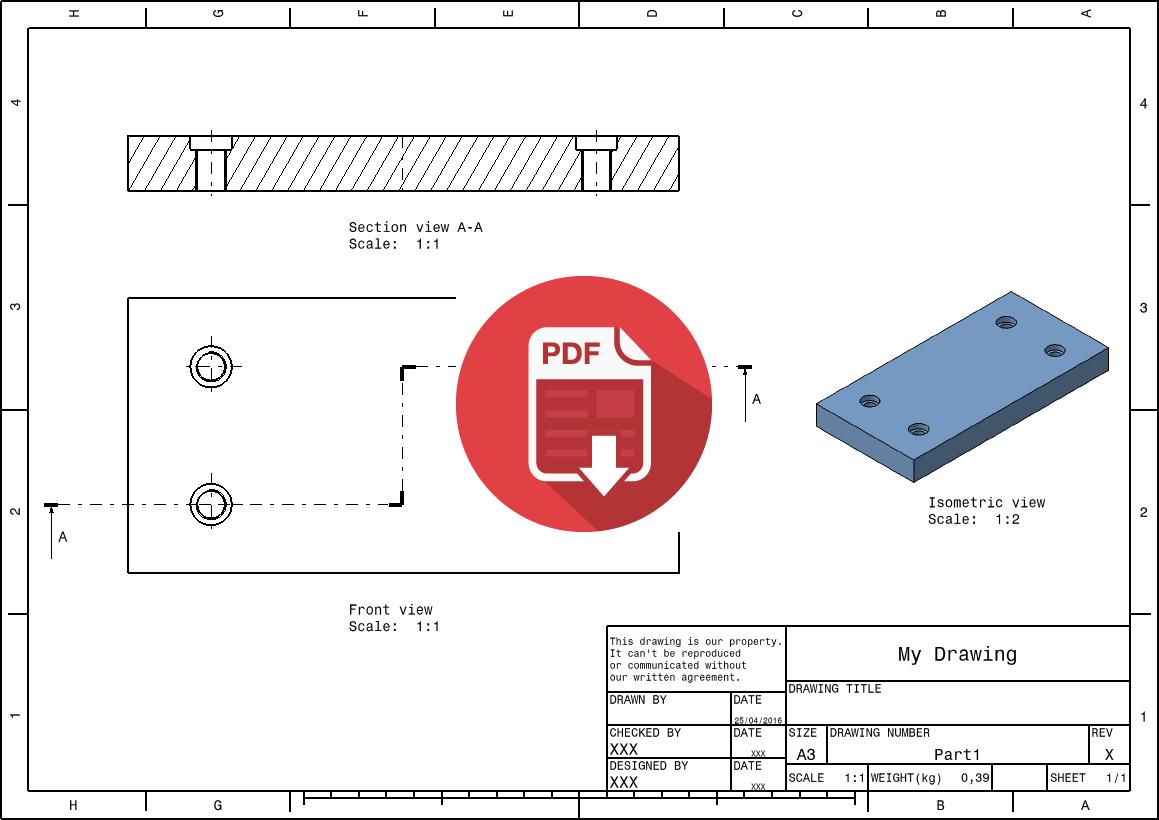 export a catia v5 drawing to pdf format