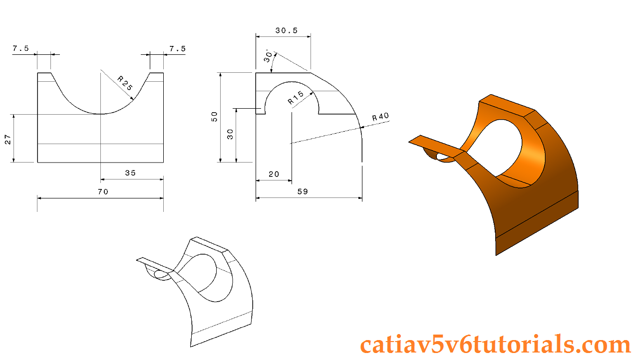 Generative Shape Design 1 Catia V5 Beginner Tutorial
