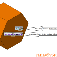 How to close a surface in CATIA V5 – Part Design and Generative Shape Design